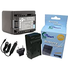 Canon VIXIA HF R600 Battery and Charger with Car Plug and EU Adapter Replacement - For Canon BP-727, BP-718 Digital Camcorder Batteries and Chargers (2400mAh, 3.6V, Lithium-Ion)