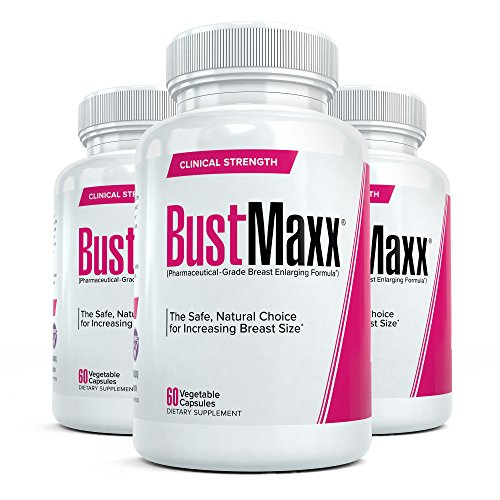 Bustmaxx - All Natural Breast Enhancement and Enlargement Pills (3 Bottles) | Breast Augmentation Supplement for Larger, Fuller Breasts | with Saw Palmetto, Fenugreek and Dong Quai, 180 Count ...