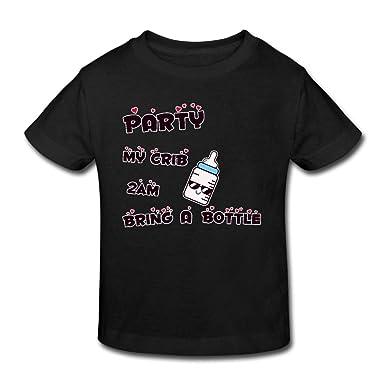 d2a6a4a5 PANK11 Party Crib 2am Bring Bottle Boys Girls Short-Sleeve Cotton Toddler T- Shirts