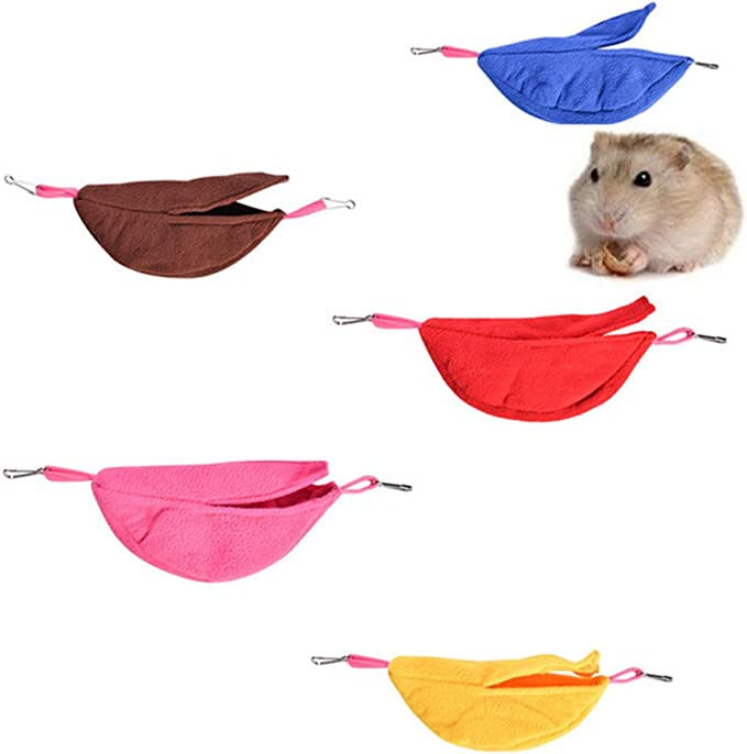 BOENTA Cama Hamster Cama Conejo H/ámster Hamaca Jaula de Ratas Accesorios Hur/ón hamacas Camas de Conejo para Interiores Guinea Cerdo Hamaca Rata Cama Brown