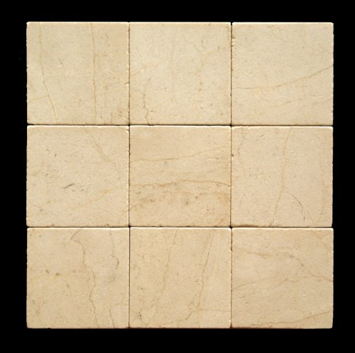 Crema Marfil 4X4 Marble Tumbled Tile by Oracle Tile & Stone