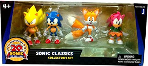 - Sonic 20th Anniversary Exclusive Classics Action Figure 4 Pack