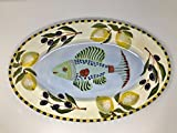 Zrike By Eileen Transante Fish Platter Oval 12''x18''