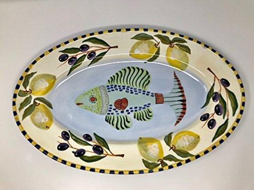 Zrike By Eileen Transante Fish Platter Oval 12''x18'' by Zrike (Image #2)