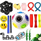 The Ultimate Sensory Fidget Toys Kit for Kids 20 Packs Fidget Cube/Infinity Cube/Squishy Ball/Squeeze Bean/Fidget Pen/Rainbow Magic Balls/Twisted Toy for ADD ADHD Stress Relax Prime