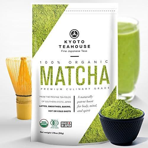Superior Quality 100% Organic Japanese Matcha Green Tea Powder - USDA & JONA certified - Premium Culinary Grade - Perfect for Smoothies, Lattes, Baking, or Straight Shots [50g/1.76oz]