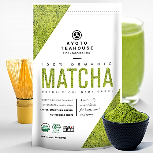 Superior Quality 100% Organic Japanese Matcha Green Tea Powder - USDA & JONA certified - Premium Culinary Grade - Perfect for Smoothies, Lattes, Baking, or Straight Shots [50g/1.76oz]