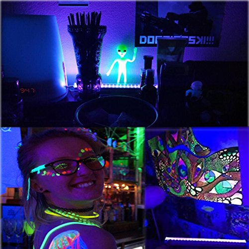 UV LED Black Light Fixtures, Leciel 6W Portable Blacklight Lamp for UV Poster, UV Art, Ultraviolet Curing, Authentication Currency or Stain Detector by LECIEL (Image #3)