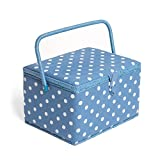 Hobby Gift MRL/188 | Denim Spot Large Sewing Box | 23.5x31x20cm