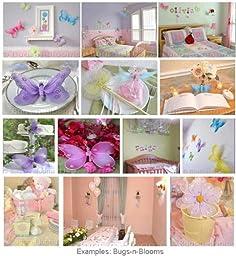 Butterfly Curtain Tiebacks Pink Multi-Layered Nylon Butterflies Pair Set Decorations Window Treatment Holdback Sheer Drapes Holder Drapery Tie Back Baby Nursery Bedroom Girl Room Decor Home Bathroom