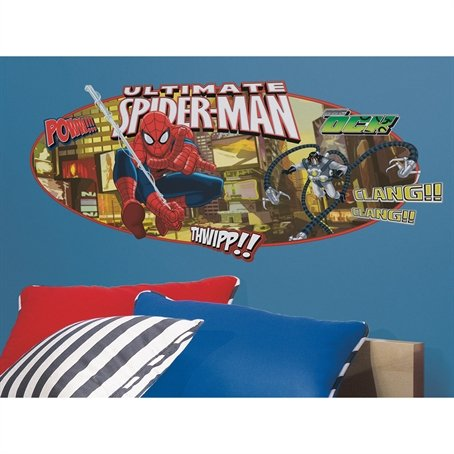 RoomMates RMK1797GM Ultimate Spiderman Headboard Peel and Stick Giant Wall Decal