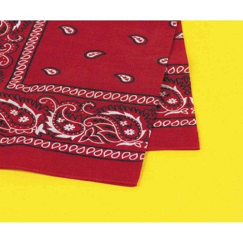 Amscan Multi-Purpose Bandana Western Cowboy Costume Party Headwear, Red, Fabric, 20