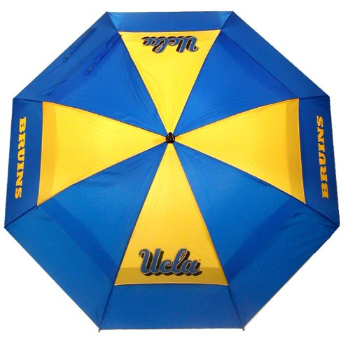 "Team Golf NCAA UCLA Bruins 62"" Golf Umbrella with Protective Sheath, Double Canopy Wind Protection Design, Auto Open Button"
