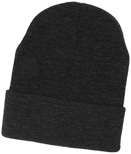 UltraClubs Men's ULTC-8130-Knit Beanie with Cuff, Heather Grey One - Knit Ultraclub Beanie