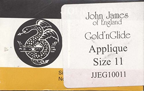 Gold Eye Needles (Colonial Needle JJEG100-11 Gold'n Glide Applique Hand Needles, Size 11, 10-Pack)