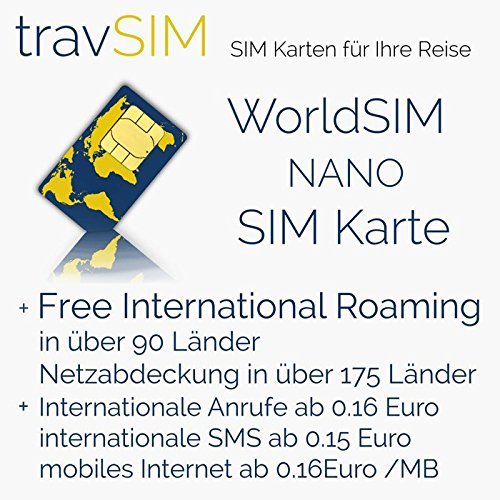 100(EUR) Prepaid WorldSIM card to use Globally with talk, sms and data options also Rechargeable by travsim (Image #2)