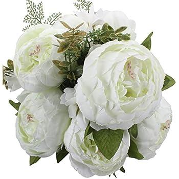Amazon duovlo springs flowers artificial silk peony bouquets duovlo springs flowers artificial silk peony bouquets wedding home decorationpack of 1 spring mightylinksfo
