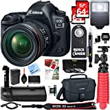 Canon EOS 5D Mark IV 30.4 MP Full Frame CMOS DSLR Camera + EF 24-70mm f/4L IS USM Lens + Accessory Bundle