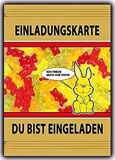 Einladungskarten Kindergeburtstag Ausgefallen Süssigkeiten   10 Stück  Lustig Witzig
