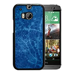 New Beautiful Custom Designed Cover Case For HTC ONE M8 With Pattern Blue White Phone Case