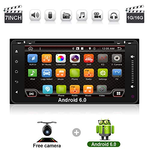 YUNTX Navigation Seller - 2 din android 6.0 car radio GPS navigation for Toyota Quad-Core 7 inch 800480 HD full touch screen car stereo head unit