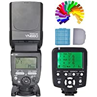 YONGNUO YN660 (Upgrade Version of YN560IV) Flash Radio Master Slave for Canon Nikon Pentax Olympus Sony + YN560TX LCD Wireless Flash Controller Transmitter for Canon with Color Filters