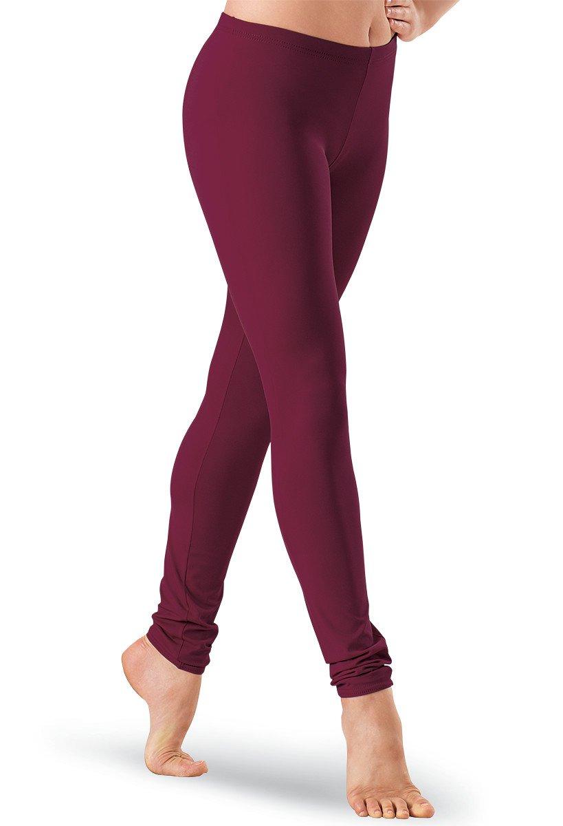 Balera Dance Leggings Ankle-Length Black Cherry Adult Medium by Balera