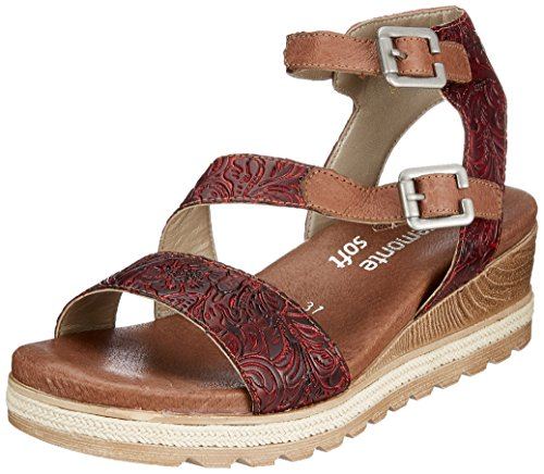 Black red fire black Chestnut Women Sandals 35 D6351 Remonte chestnut fire w4OEtqx