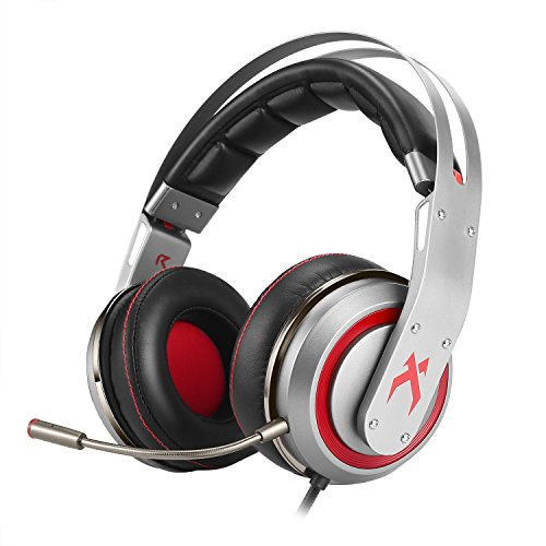 XIBERIA T19 Surround Sound Gaming Headset, Over-ear Kopfhörer mit Abnehmbarem Mikrofon