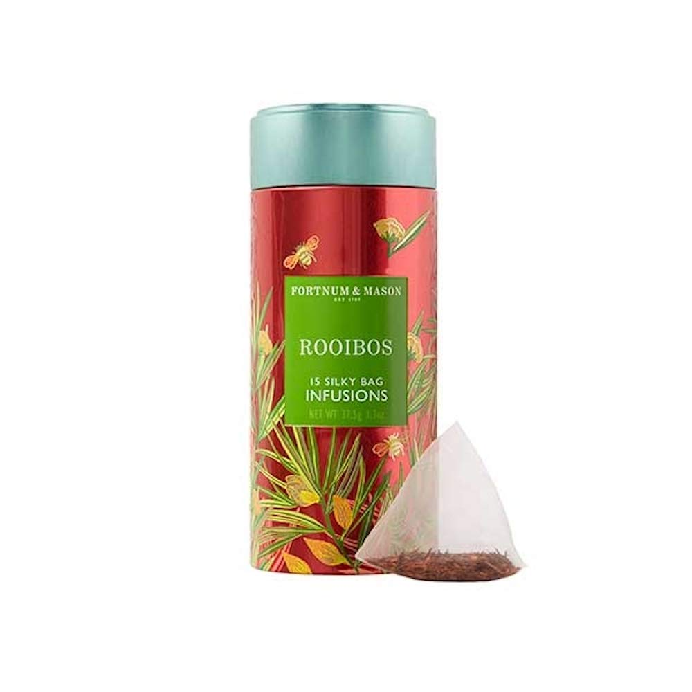 Fortnum and Mason British Tea, Rooibos Infusion Tin 15 Silky Tea bags (1 Pack) USA Stock