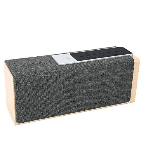 Ongoion Vintage houten luidspreker, bluetooth-luidspreker, draadloze stereo-hifi-installatie 5 W * 2 voor binnen en…