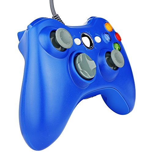 Kycola Xbox 360 Wired Controller NA01 PC controller Wired USB Gamepad For Xbox 360/PC(Blue)