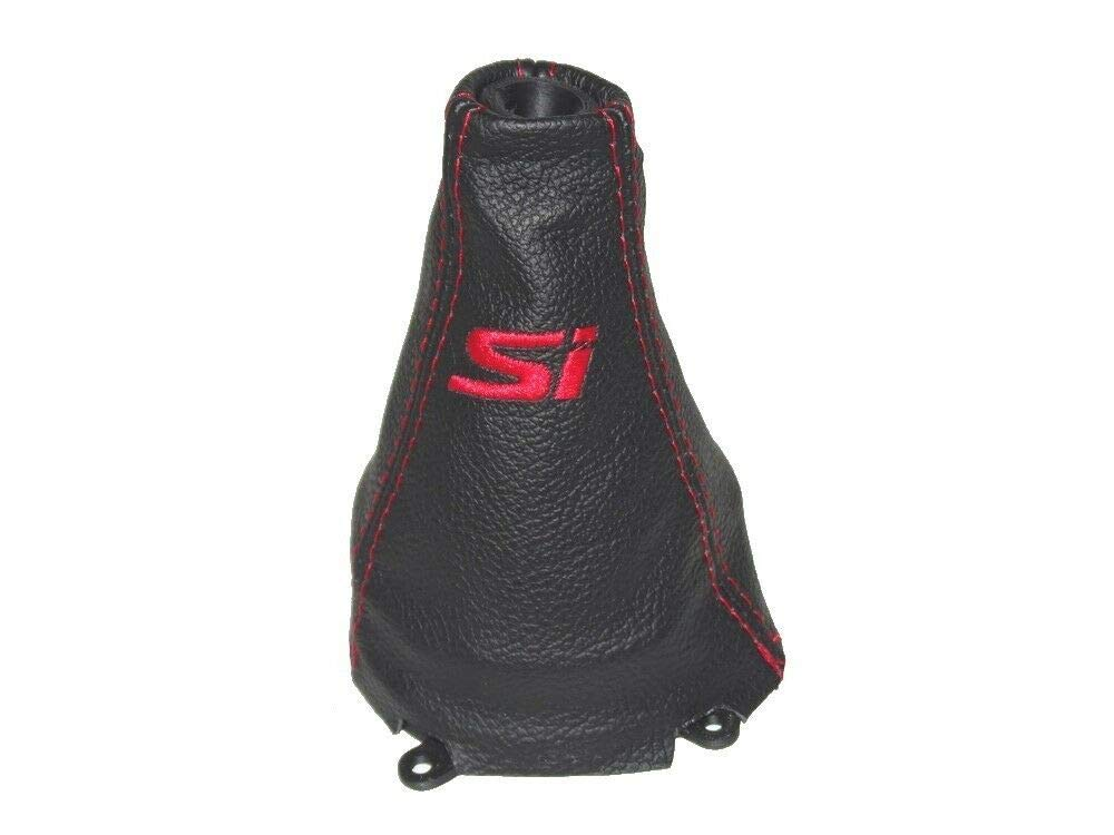The Tuning-Shop Shift Boot Plastic Frame Genuine Leather Embroidery Si Red