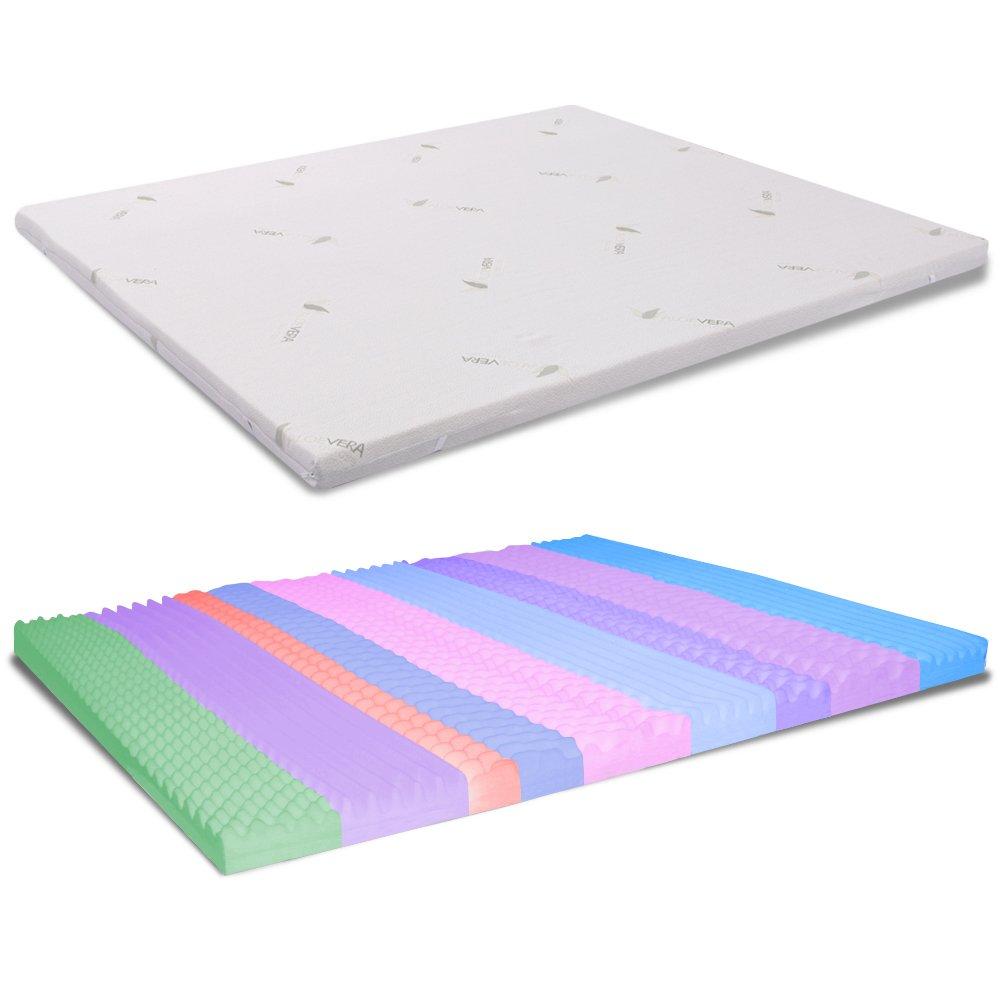 MiaSuite Topper Memory Correttore per Materasso, Memory Foam, Bianco, 140 X 190 X 5 cm Prezzi offerte
