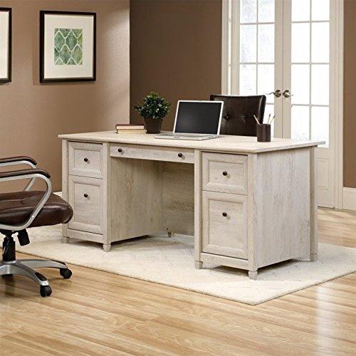 Sauder Edge Water Executive Desk in Chalked Chestnut by Sauder (Image #9)'