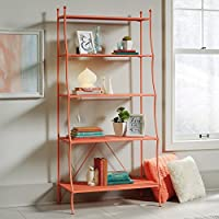 Sauder Eden Rue 5 Shelf Bookcase in Coral