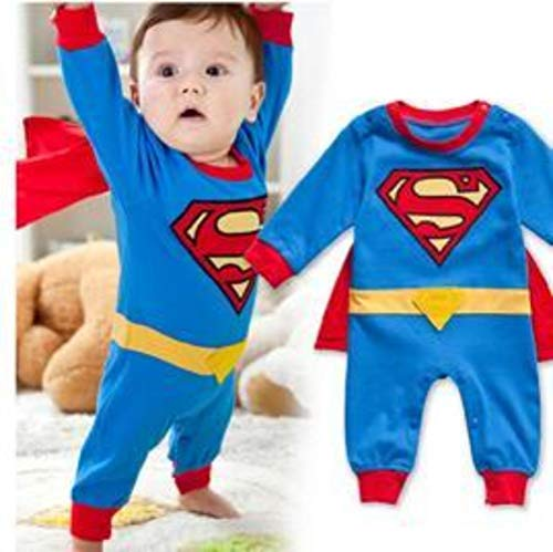 Superman Superbaby Superwoman Halloween Costume Romper Onesie for Babies, Baby Boy, Baby Girl, Infants and Toddlers for $<!--$37.99-->