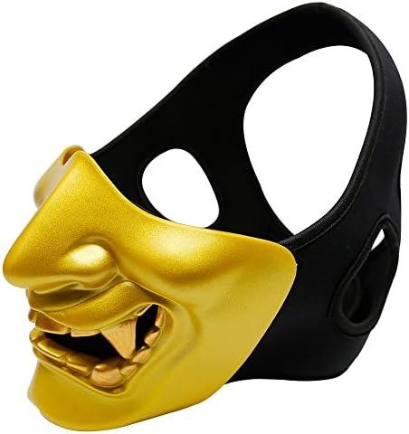 Horror Mezza Maschera Diavolo Smile Battlefield Guardian Prajna Maschera per Partito Halloween Cosplay