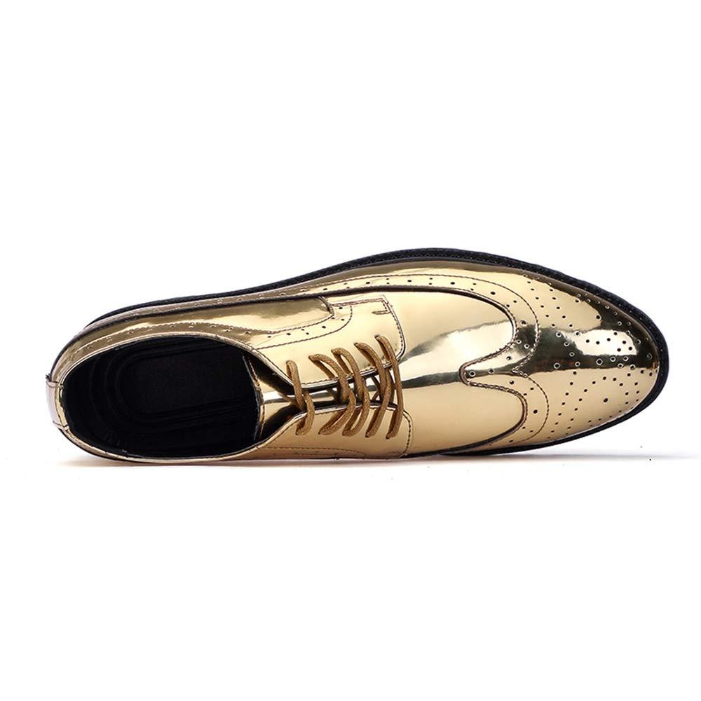 Havanadd Lederschuhe für für für Männer Oxford Classic Carvings Brogue Lackleder Große Größenschuhe Business Oxford Schuhe (Farbe   Gold, Größe   46 EU) c8a96f