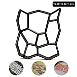 Pavement Mold Walk Maker, FOME DIY Manually Garden Walk Maker Mold Garden Pavement Pathmate Concrete Mold Pavement Mold Patio Concrete Stepping Stone Durable Easy to Use 19.68X19.68X1.57in