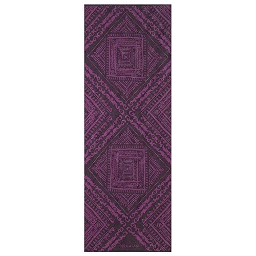 Gaiam Premium Print Reversible Yoga Mat, Inner Peace Lotus