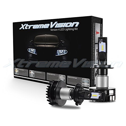 XtremeVision V4 32W 4,800LM - H7 LED Headlight Conversion Kit - 6500K Korea CSP LED - Fanless Design - 2018 Model