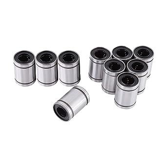 Amazon.com: 10 piezas 122030 LM12UU rodamiento 12 mm ...