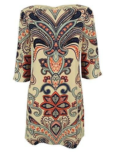 Inc International Concepts Women's 3/4 Sleeve Shift Dress (4P, Jungle Paisley) by INC Internarional Concepts