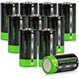 Enegitech 10 Pack 3.2V 450mAh LiFePO4 Rechargeable Lithium Batteries RCR123A Battery for Solar Garden Lights, Security System Panels (Arlo Camera VMS3230 Only)