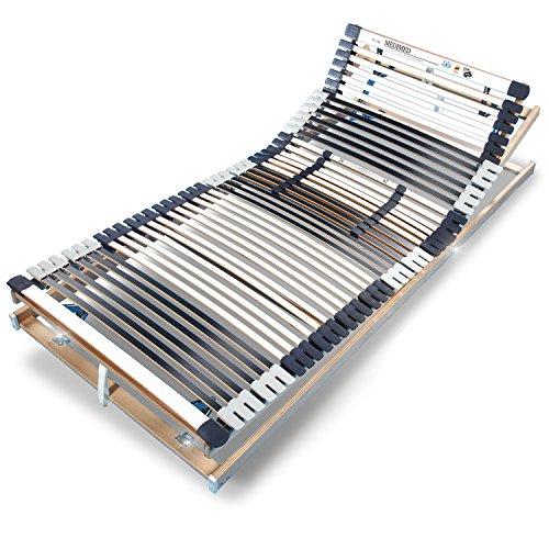 Ravensberger MEDIMED orthopädischer 7-Zonen-Lattenrost, verstellbar, klappbar, Lattenrahmen aus Buche mit 44 Leisten 90x200 cm, LGA und TÜV geprüft