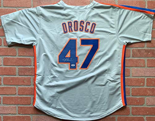 Jesse Orosco autographed signed jersey MLB New York Mets PSA COA ()