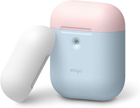 elago A2 Duo Funda Compatible con audífonos Apple AirPods inalámbricos (LED Frontal Visible) -[Soporta Carga inalámbrica] [2 Tapas y 1 Cuerpo]: Amazon.es: Electrónica