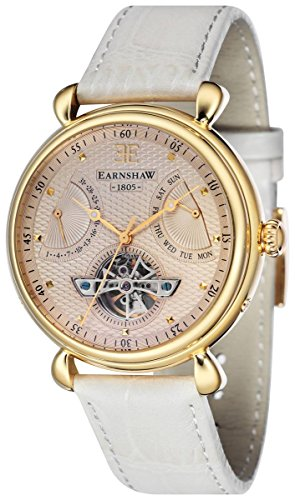 Thomas Earnshaw Womens The Grand Calendar Watch - Champagne/Cream/Gold