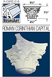 Roman Corinthian Capital For 6 Inch Hollow Round Tapered Columns   Load  Bearing Fiberglass   Unfinished
